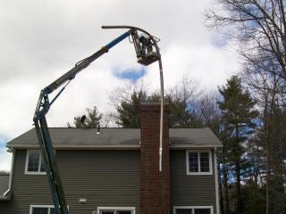 Chimney work on Flagg Road