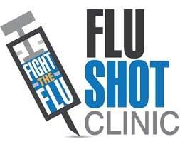 flu shot clinic with fight the flu written on needle