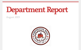 department report cover