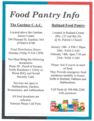 food pantry hours and location