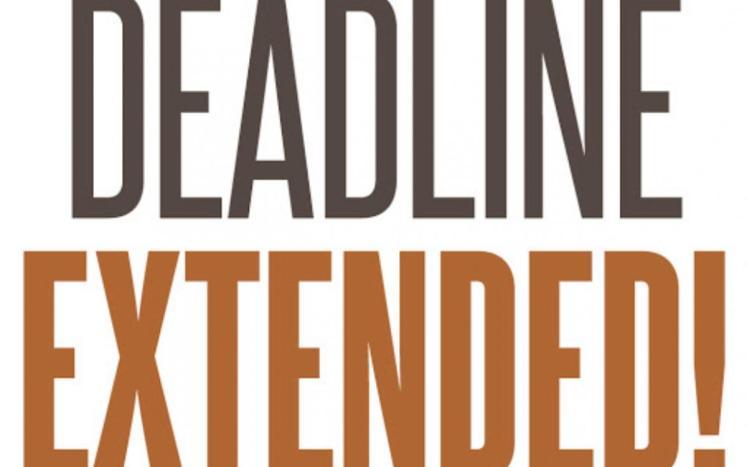 Extended deadline text