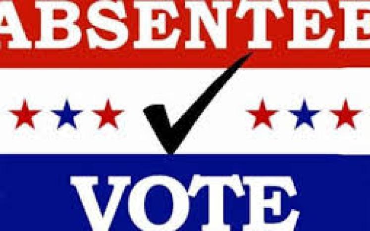 absentee vote banner