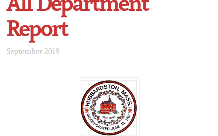 department report cover