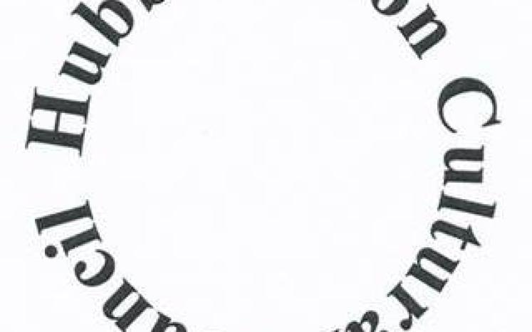 "words ""Hubbardston Cultural Council"" in a circle design"