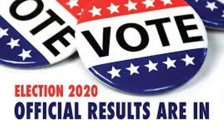 official election results banner