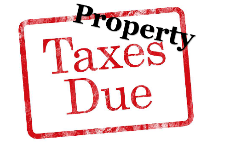 square sin labeled property taxes due