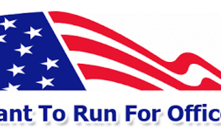 flag with want to run for office