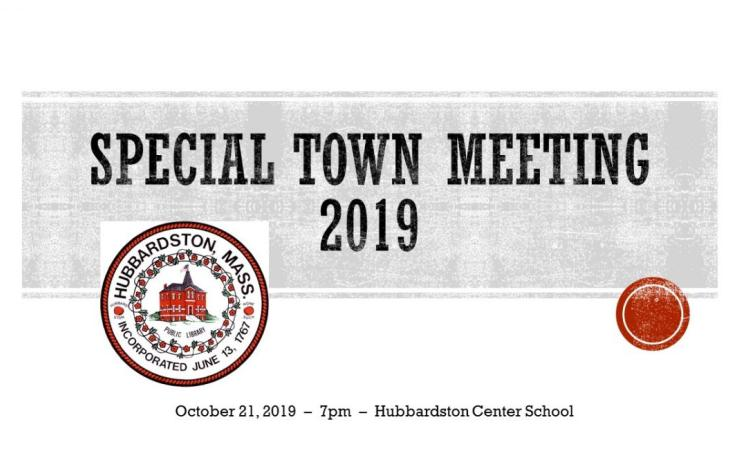 Special Town Meeting Graphic