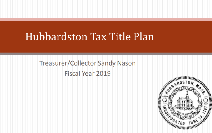 Tax Title Plan Cover